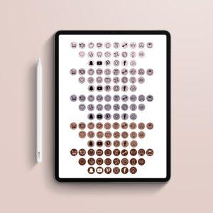 Pegatinas digitales Iconos Rosas