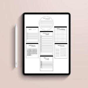 Pegatinas digitales notas minimalist