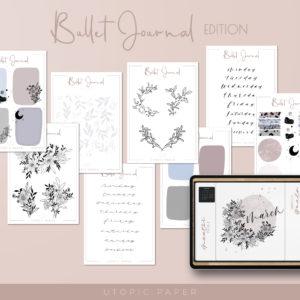 pegatinas digitales bullet journal